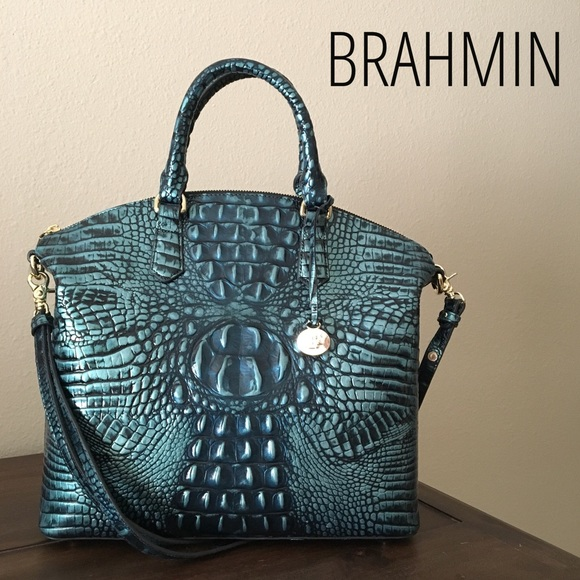 c72c42f377274 Brahmin Bags | Large Duxbury Verdigris Melbourne Satchel | Poshmark